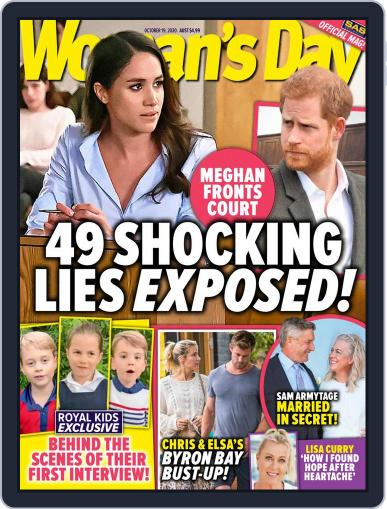 Woman's Day Australia (Digital) October 19th, 2020 Issue Cover