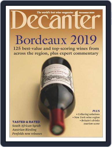 Decanter November 1st, 2020 Digital Back Issue Cover