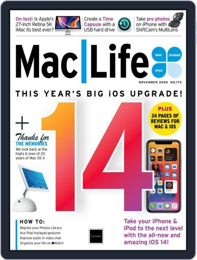 MacLife November 1st, 2020 Digital Back Issue Cover