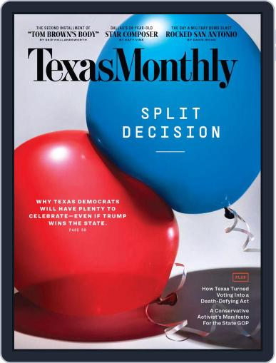 Texas Monthly (Digital) November 1st, 2020 Issue Cover
