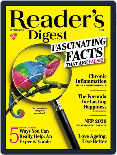 Reader's Digest India (Digital) October 1st, 2020 Issue Cover