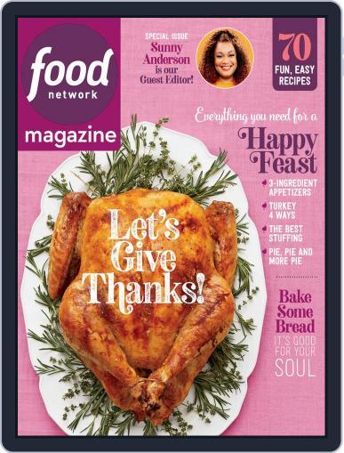Food Network November 1st, 2020 Digital Back Issue Cover