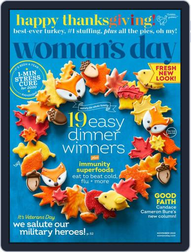 Woman's Day (Digital) November 1st, 2020 Issue Cover