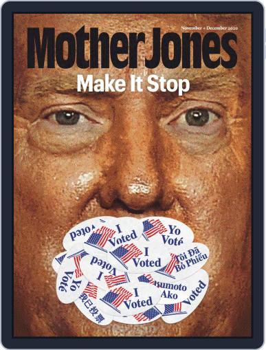 Mother Jones November 1st, 2020 Digital Back Issue Cover