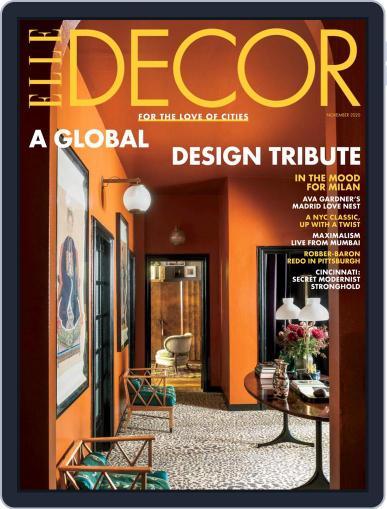 ELLE DECOR November 1st, 2020 Digital Back Issue Cover