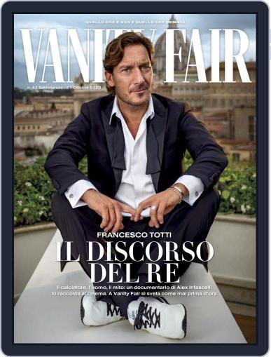 Vanity Fair Italia October 21st, 2020 Digital Back Issue Cover