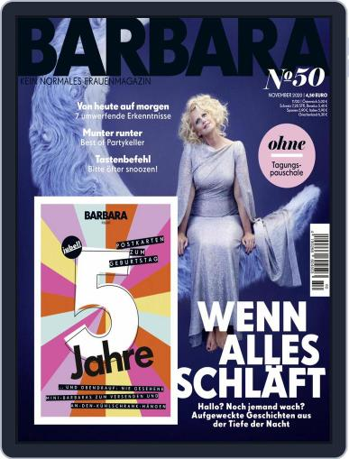 Barbara November 1st, 2020 Digital Back Issue Cover