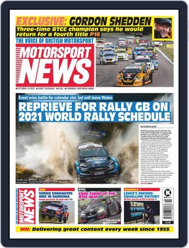 Motorsport News (Digital) October 15th, 2020 Issue Cover