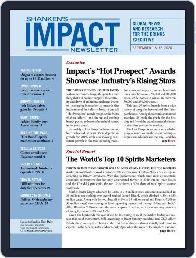 Shanken's Impact Newsletter September 1st, 2020 Digital Back Issue Cover
