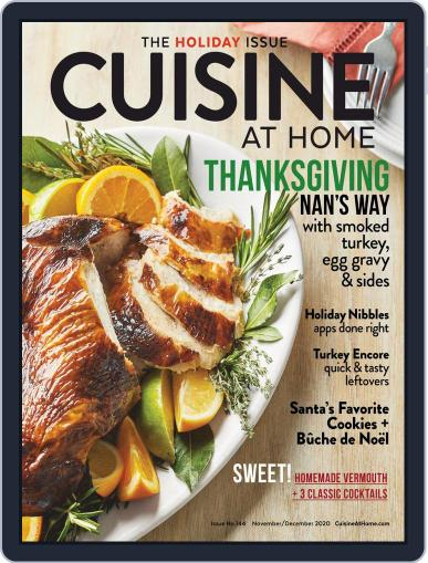 Cuisine at home (Digital) November 1st, 2020 Issue Cover