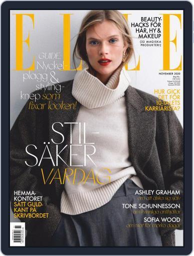ELLE Sverige (Digital) November 1st, 2020 Issue Cover
