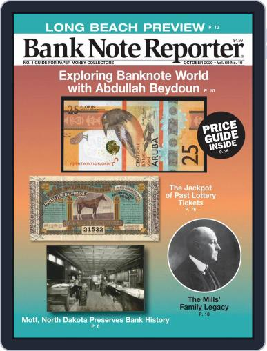 Banknote Reporter October 1st, 2020 Digital Back Issue Cover