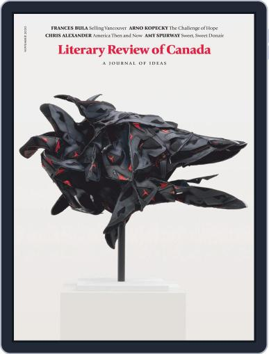 Literary Review of Canada November 1st, 2020 Digital Back Issue Cover