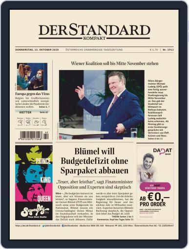 STANDARD Kompakt (Digital) October 15th, 2020 Issue Cover