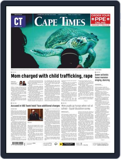 Cape Times October 9th, 2020 Digital Back Issue Cover