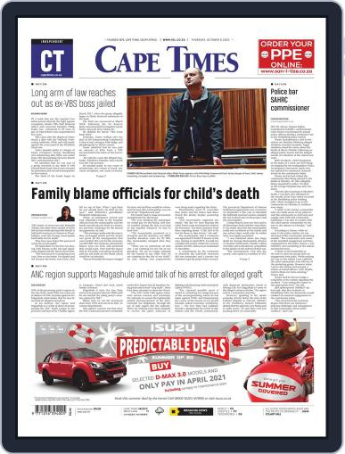Cape Times (Digital) October 8th, 2020 Issue Cover