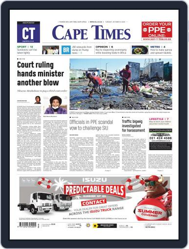Cape Times (Digital) October 6th, 2020 Issue Cover