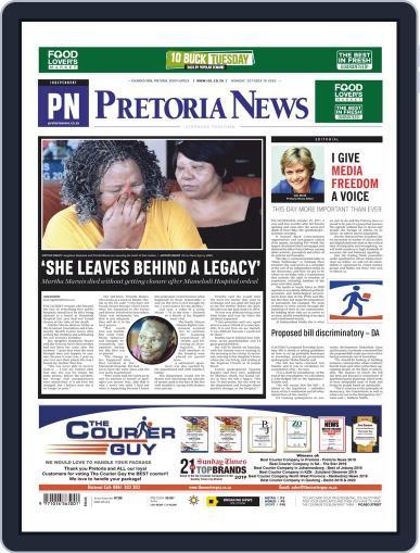 Pretoria News (Digital) October 19th, 2020 Issue Cover