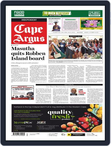 Cape Argus October 19th, 2020 Digital Back Issue Cover