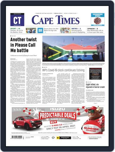 Cape Times October 20th, 2020 Digital Back Issue Cover