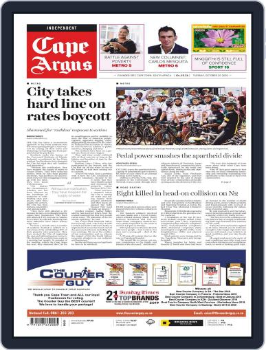 Cape Argus (Digital) October 20th, 2020 Issue Cover