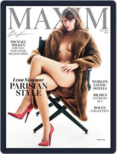 Maxim (Digital) November 1st, 2020 Issue Cover
