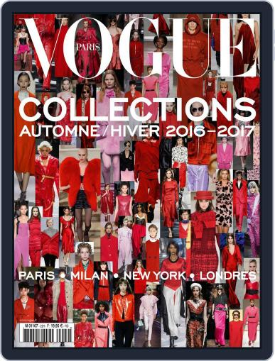 Vogue Collections June 1st, 2016 Digital Back Issue Cover