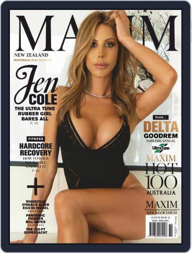 MAXIM New Zealand (Digital) November 1st, 2020 Issue Cover