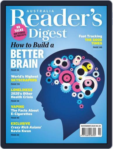 Readers Digest Australia November 1st, 2020 Digital Back Issue Cover