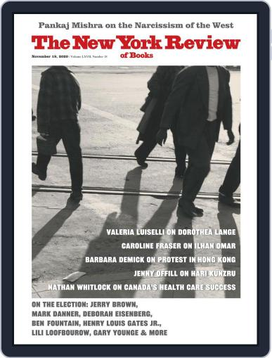 The New York Review of Books November 19th, 2020 Digital Back Issue Cover