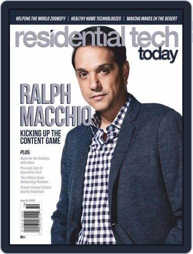 Residential Tech Today (Digital) August 1st, 2020 Issue Cover