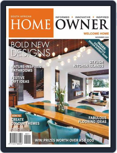 South African Home Owner (Digital) November 1st, 2020 Issue Cover