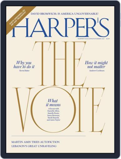 Harper's (Digital) November 1st, 2020 Issue Cover