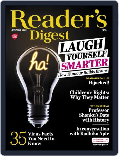 Reader's Digest India (Digital) November 1st, 2020 Issue Cover