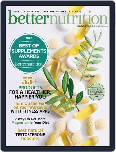 Better Nutrition Magazine (Digital) November 1st, 2020 Issue Cover
