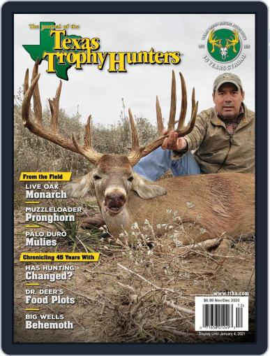 The Journal of the Texas Trophy Hunters November 1st, 2020 Digital Back Issue Cover