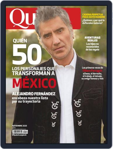 Quién (Digital) November 1st, 2020 Issue Cover