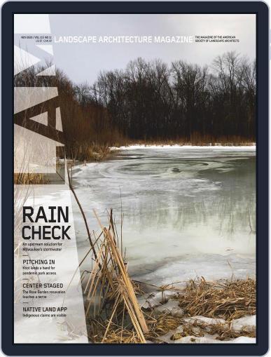 Landscape Architecture (Digital) November 1st, 2020 Issue Cover