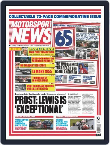 Motorsport News (Digital) October 29th, 2020 Issue Cover