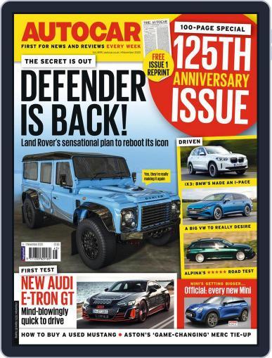 Autocar November 4th, 2020 Digital Back Issue Cover