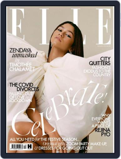 Elle UK (Digital) December 1st, 2020 Issue Cover