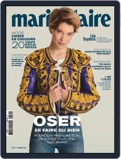 Marie Claire - France (Digital) December 1st, 2020 Issue Cover