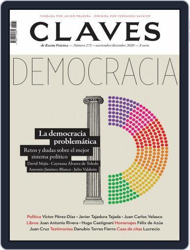 Claves De La Razón Práctica November 1st, 2020 Digital Back Issue Cover