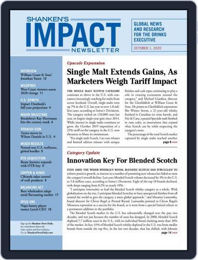 Shanken's Impact Newsletter (Digital) October 1st, 2020 Issue Cover