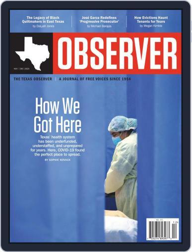 The Texas Observer (Digital) November 1st, 2020 Issue Cover