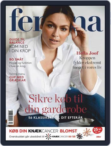 femina Denmark October 22nd, 2020 Digital Back Issue Cover