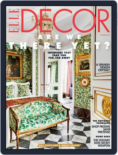 ELLE DECOR December 1st, 2020 Digital Back Issue Cover