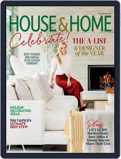 House & Home December 1st, 2020 Digital Back Issue Cover