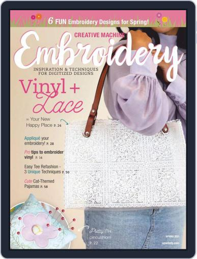 CREATIVE MACHINE EMBROIDERY November 1st, 2020 Digital Back Issue Cover