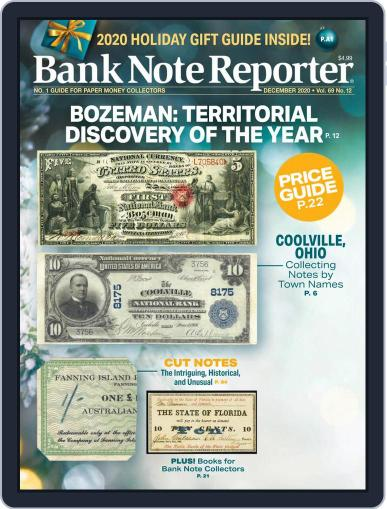 Banknote Reporter December 1st, 2020 Digital Back Issue Cover